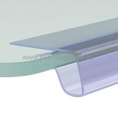 Основание для полочного ценникодержателя на стеклянные и деревянные полки